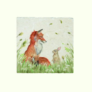 Fox And Rabbit Platter Medium