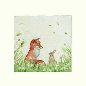 Fox And Rabbit Platter Large