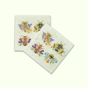 British Bees Coasters Pair