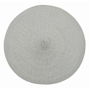 Circular Ribbed Placemat Dove Grey