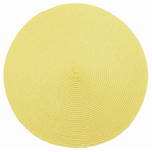 Circular Ribbed Placemat Ochre