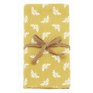 Bee Napkin Ochre Set Of 4