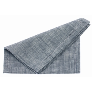 Chambray Napkin Flint Blue 4Pk