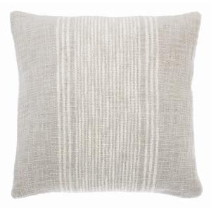 Handloom Cushion Grey Feather Fill