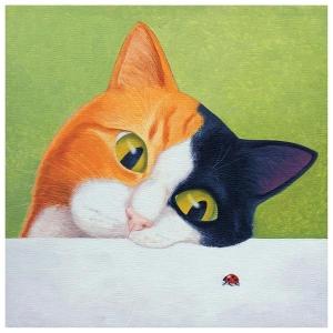 Cat With Ladybird