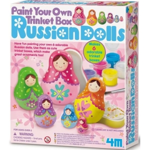 Paint You Own Trinket Box Russian Dolls