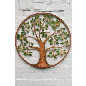 Tree of Life Green Leaves wall art