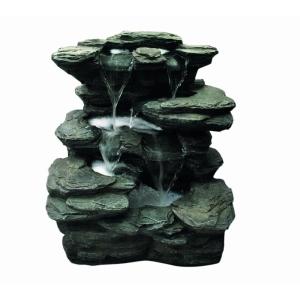 Flowing Springs Slate Multi Fall
