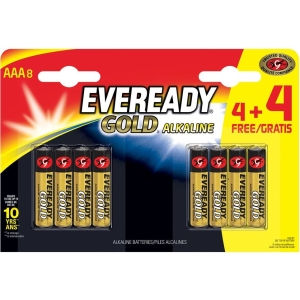 Eveready Gold AAA 4+4