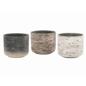 Driftwood Round Pot 19cm