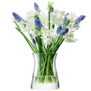 Flower Garden Posy Vase Clear