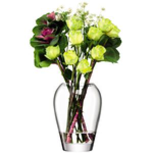 Flower Garden Bouquet Vase Clear