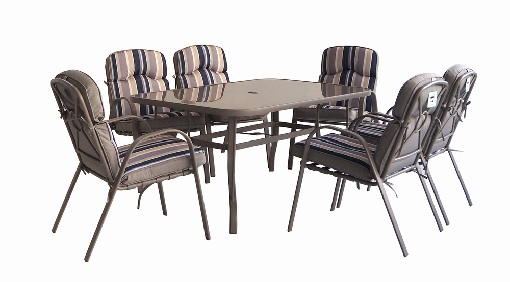 New Orleans 6 Seat Dining Set Blue, Used Furniture New Orleans