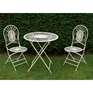 Abbey Bistro Set Antique Cream