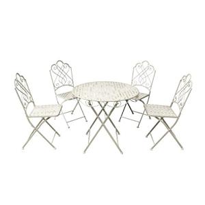 Avalon 4 Seat Dining Set Cream