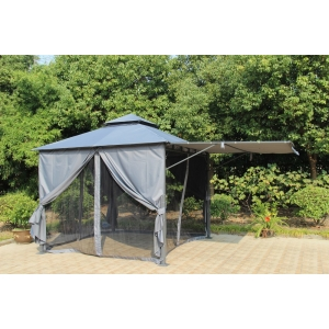 Diamond Extending Gazebo Grey