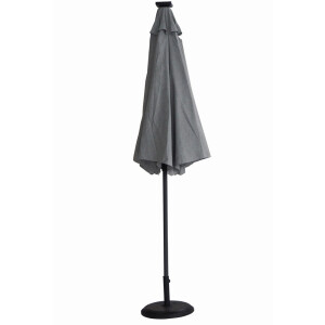 Diamond Garden Solar Led Parasol Ash Grey 3m