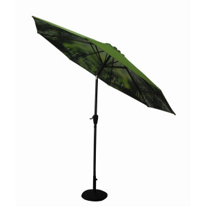 Diamond Garden Parasol Tropical Print 3m