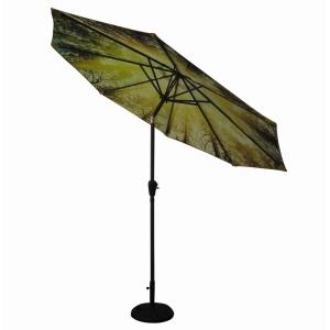 Diamond Garden Parasol Woodland Print 3m