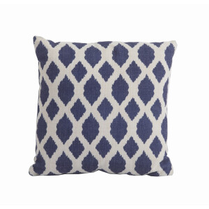 Scatter Cushion Blue Trellis