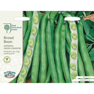Broad Bean Imperial Green Longpod Rhs