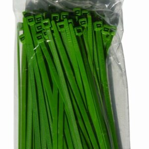Green Cable Ties 100pk 8″