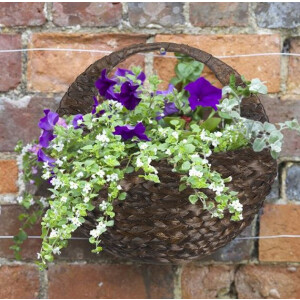 Hyacinth Wall Basket Dark 16″