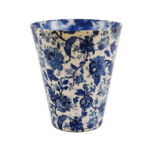 Monza Orchid Pot Cover Vintage Blue 14cm