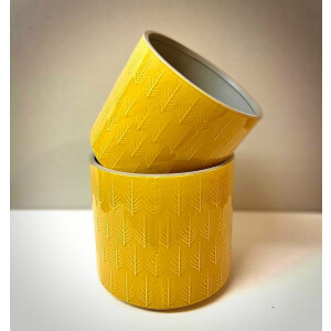 Leaf Embossed Mustard Pot Cover 15cm