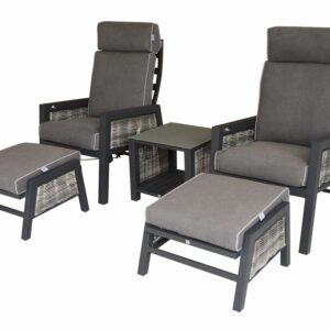 Georgia 5pc Reclining Bistro Set