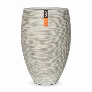Nature Rib Vase Elegant Ivory 39CM