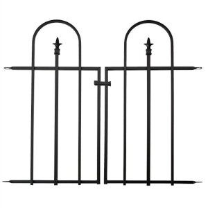 Gate For Triple Arch Finial Fence Black
