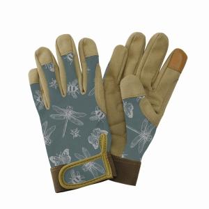 KS Comfort Gloves Flutter Bugs Teal Med