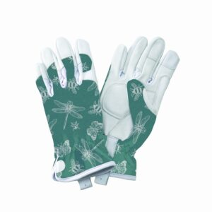 KS Leather Gloves Flutter Bugs Teal Small