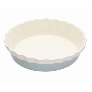 Ceramic Pie Dish with a Fluted Edge