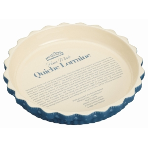 Quiche Dish Round Ceramic