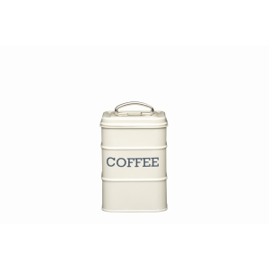 Cream Tin Coffee Canister