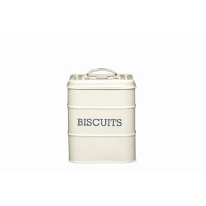 Cream Tin Biscuit Storage
