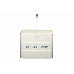 Cream Tin Housekeeping Caddy