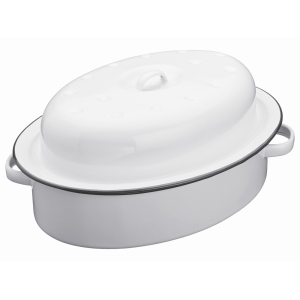 Enamel Oval Roaster and Lid