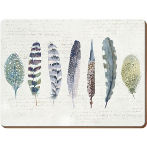 Feathers Place Mats 6Pk