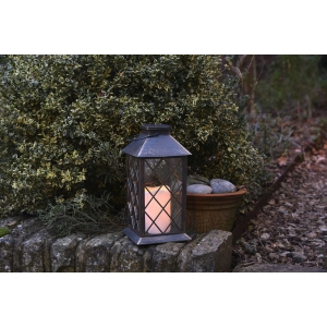 St Helens Flickering Candle Lantern Bronze