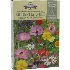 Blue Diamond Butterfly+Bee Shaker