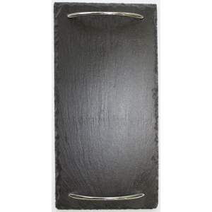 Slate Serving Tray With SIlver Handles Small