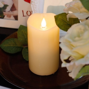 Real Wax Flickering Candle With Timer 23cm