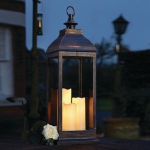 Outside In Giant Copper Lantern