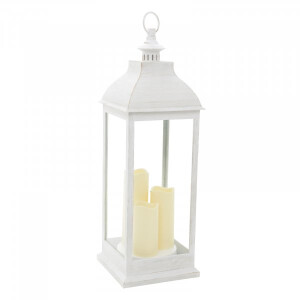 Outside In Giant Cream Candle Lantern
