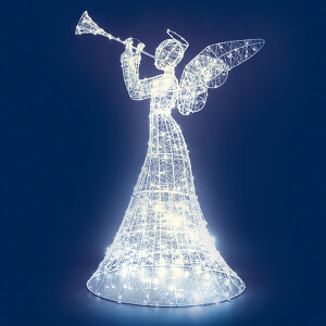 1.5M (5Ft) 1000 LED Light Wire Standing Angel with Timer