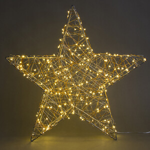 30cm 100 Warm White Micro LED Table Top Star