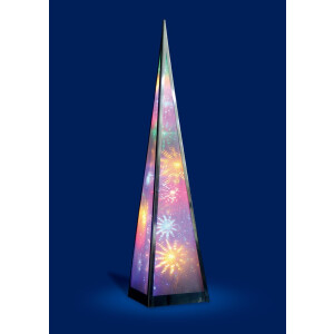 60cm Pyramid Lamp with White and Multicolour LED Lights